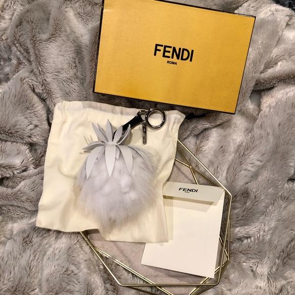 02135e2632 Fendi Fruit Bag Charm In White - New in Box